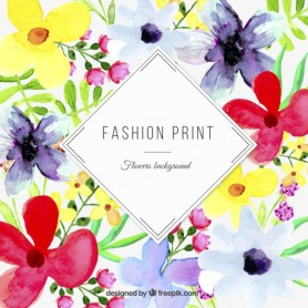 floral fasion print design