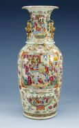 a famille rose canton vase, qing dynasty, 19th cent