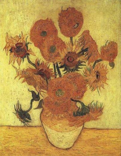 vase avec quinze tournesol 1889, van gogh (peinture impressionniste)