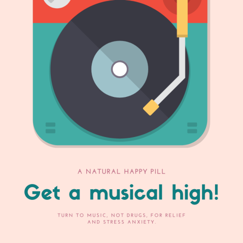 Colorful Music Mixer Drug Awareness Social Media Graphic