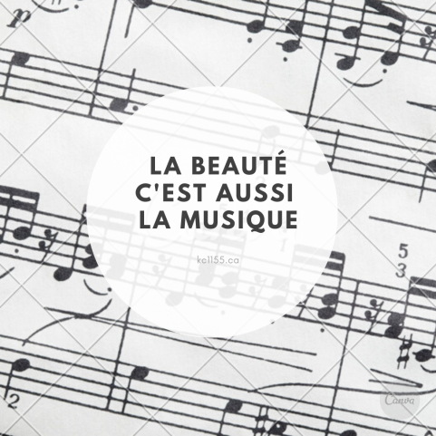 La musique de fond de la feuille et blanc Circle Music Border Quote
